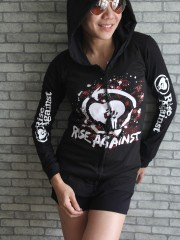 Rise Against  Metal Rock DIY Slim Fit  Hoodie Jacket