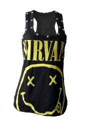 Nirvana Kurt Cobain Grunge Rock DIY Racerback Tank Top Shirt