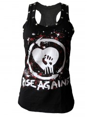 Rise Against  Metal Rock DIY Racerback Tank Top Shirt