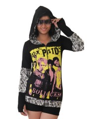 Sex Pistols Punk Rock DIY Funky Zip Hoodie Jacket Top Shirt