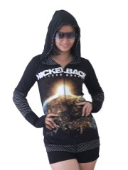 Nickelback Metal Rock DIY Funky Zip Hoodie Jacket Top Shirt