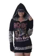 AC/DC Hard Metal Rock DIY Funky Zip Hoodie Jacket Top Shirt