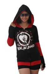 Rise Against  Metal Rock DIY Funky Zip Hoodie Jacket Top Shirt
