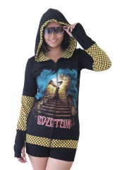 Led Zeppelin Metal Rock DIY Funky Zip Hoodie Jacket Top Shirt