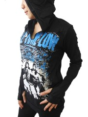 All Time Low Metal Rock DIY Zombie Thumbhole Reverse Stitch Pullover Hoodie Top Shirt