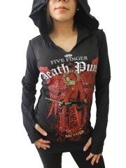 Five Finger Death Punch Metal Punk Rock DIY Zombie Thumbhole Reverse Stitch Pullover Hoodie Top Shirt