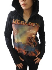 Megadeth Heavy Metal Rock DIY Zombie Thumbhole Reverse Stitch Pullover Hoodie Top Shirt
