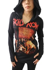 Skid Row Metal Rock  DIY Zombie Thumbhole Reverse Stitch Pullover Hoodie Top Shirt