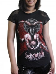 Behemoth Death Metal Rock DIY Womens Gothic Lace Sleeve Top Tee Tshirt