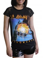 Def Leppard Heavy Rock DIY Womens Gothic Lace Sleeve Top Tee Tshirt