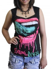 Falling in reverse Metal Rock DIY Sexy Pentagon Neckline Tee Top