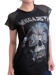 Megadeth Metal Rock DIY Womens Gothic Lace Sleeve Top Tee Tshirt