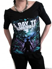 A Day To Remember Metal Punk Rock  DIY Princess Sleeve Boat neck Tee Top Shirt