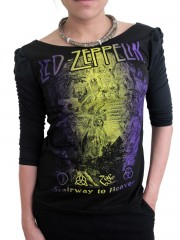 Led Zeppelin Metal Rock DIY Princess Sleeve Boat neck Tee Top Shirt