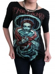 Of Mice & Man Metal Rock DIY Princess Sleeve Boat neck Tee Top Shirt