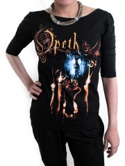 Opeth Goth Metal Rock DIY Princess Sleeve Boat neck Tee Top Shirt