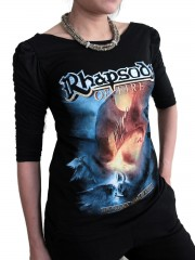 Rhapsody Of Fire Metal Rock DIY Princess Sleeve Boat neck Tee Top Shirt