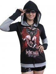 Behemoth Hard Metal Rock DIY Funky Zip Hoodie Jacket Top Shirt