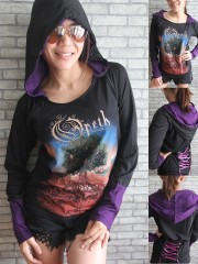 Opeth Goth Metal Rock DIY Funky Corset Hoodie Top Shirt