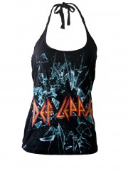 Def Leppard Heavy Rock DIY Sexy Halter Tank Top Shirt