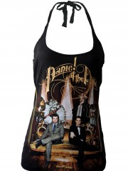 Panic At The Disco Metal Rock DIY Sexy Halter Tank Top Shirt