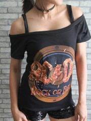 AC/DC Hard Metal Rock DIY Sexy Tee Tank Top Shirt