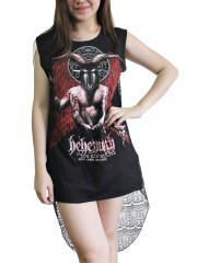 Behemoth Metal Rock DIY Womens Singlet Lace Back Tunic Top T-shirt