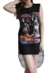 Cannibal Corpse Metal Rock DIY Womens Singlet Lace Back Tunic Top T-shirt