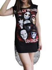 Hollywood Undead Metal Rock DIY Womens Singlet Lace Back Tunic Top T-shirt