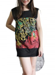 Lamb Of God Metal Rock DIY Womens Singlet Lace Back Tunic Top T-shirt