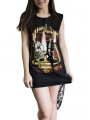 Panic At The Disco Metal Rock DIY Womens Singlet Lace Back Tunic Top T-shirt