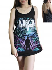 A Day To Remember Metal Rock Band DIY Pentagram Chain Back Tank Top Tunic