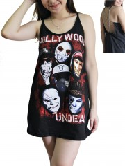 Hollywood Undead Metal Rock Band DIY Pentagram Chain Back Tank Top Tunic