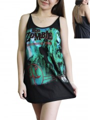 Rob Zombie Metal Rock Band DIY Pentagram Chain Back Tank Top Tunic