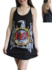 Slayer Metal Rock Band DIY Pentagram Chain Back Tank Top Tunic