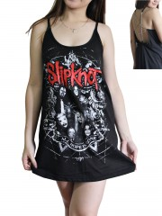 Slipknot Metal Rock Band DIY Pentagram Chain Back Tank Top Tunic