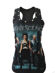 Evanescence Hard Metal Rock  DIY Racerback Tank Top Shirt