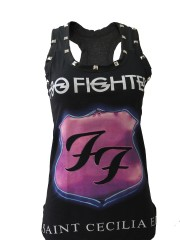 Foo Fighters Metal Rock DIY Racerback Tank Top Shirt