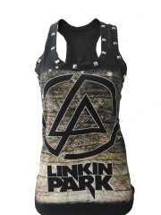 Linkin Park Metal Punk Rock DIY Racerback Tank Top Shirt