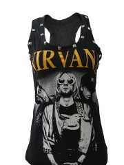 Nirvana Metal Rock DIY Racerback Tank Top Shirt