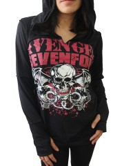 Avenged Sevenfold Metal Rock DIY Zombie Thumbhole Reverse Stitch Pullover Hoodie Top Shirt