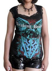 Breaking Benjamin Metal Rock DIY Gothic Pentagon Neckline Tee Top T-Shirt