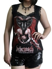 Behemoth  Metal Rock DIY Gothic Pentagon Neckline Tee Top T-Shirt