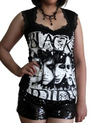 Black Veil Brides Metal Rock DIY Gothic Pentagon Neckline Tee Top T-Shirt