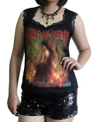 Cradle Of Filth Metal Rock DIY Gothic Pentagon Neckline Tee Top T-Shirt