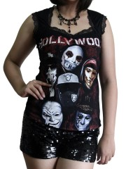 Hollywood Undead Metal Rock DIY Gothic Pentagon Neckline Tee Top T-Shirt