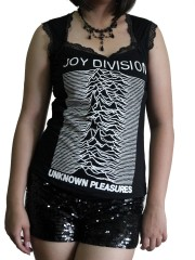 Joy Division Metal Rock DIY Gothic Pentagon Neckline Tee Top T-Shirt