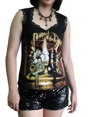 Panic At The Disco Metal Rock DIY Gothic Pentagon Neckline Tee Top T-Shirt