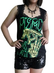 Pierce The Veil Metal Rock DIY Gothic Pentagon Neckline Tee Top T-Shirt
