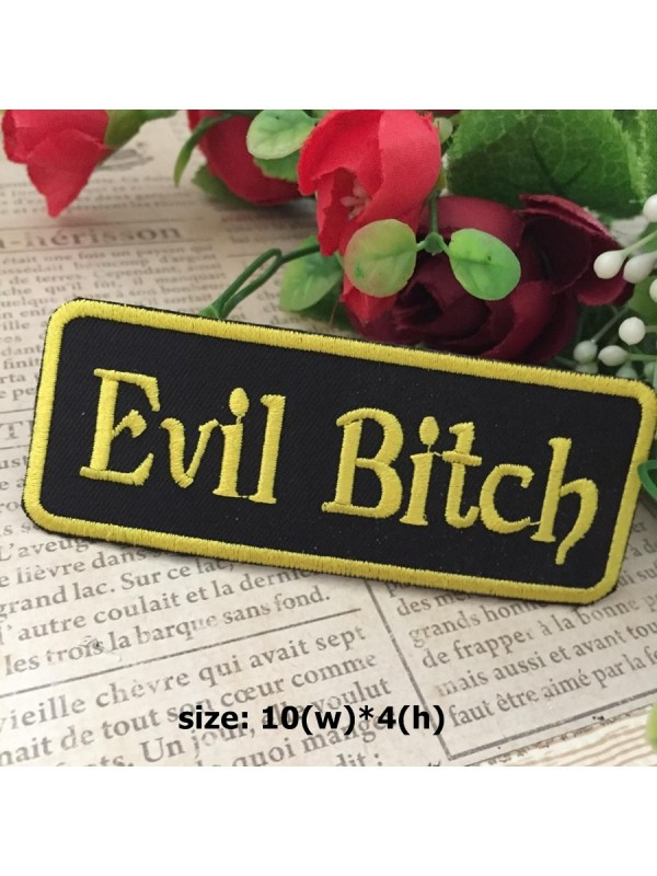 beaa9bac97adb evilbitch01| Evil Bitch Embroidered Iron on Sew on Patch Applique ...